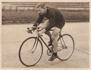 Vic Gibbons Riding 1953 TT Bike